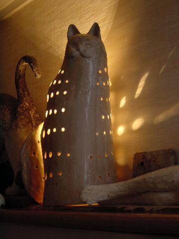 猫のランプシェード01