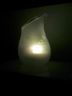 山本さんのガラスのランプシェード01