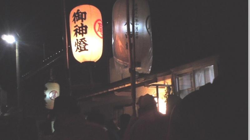 新潟県佐渡市の高張り提灯