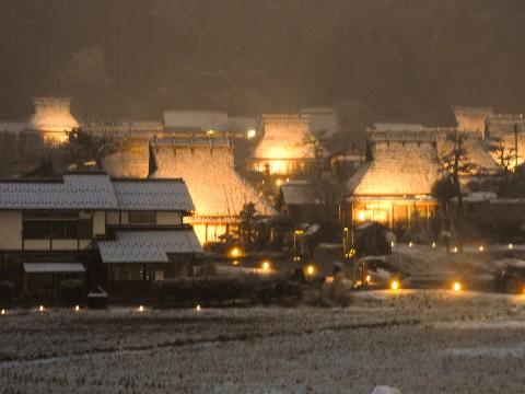 美山かやぶきの里 雪灯廊06