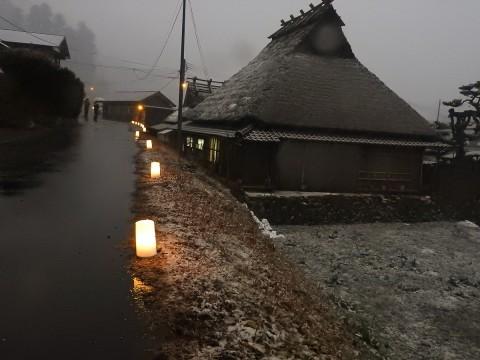 美山かやぶきの里 雪灯廊04
