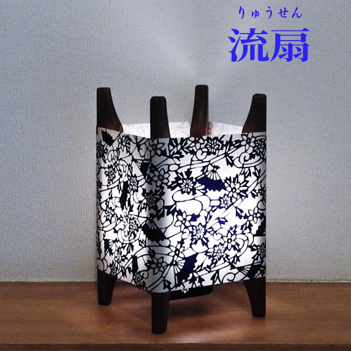 糸車行灯【藍小紋】画像01